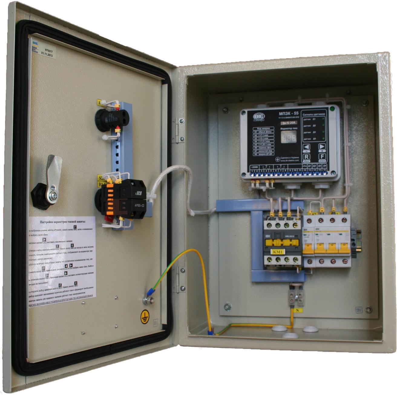 схема подключения электродвигателя погружного насоса